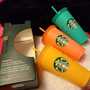 (1) starbucks color changing cups
